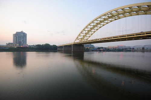 ohio sunrise kentucky cincinnati ohioriver newportky bigmacbridge blinkagain