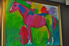 Peter Max Painting at Church Hill Downs