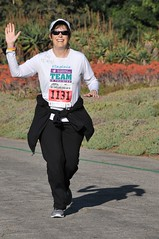 Virginia at a 5K celebrating her survival (USA)
