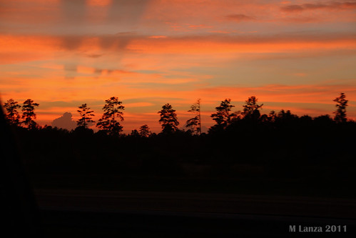 pink sunset red sky orange storm clouds evening shadows purple northcarolina thunderstorm i95