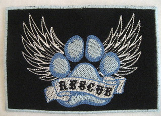 Rescue patch blue/white