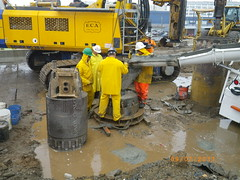 CQ031 - Concrete Poured into Secant Pile #2 At TARP (9-07-2011)