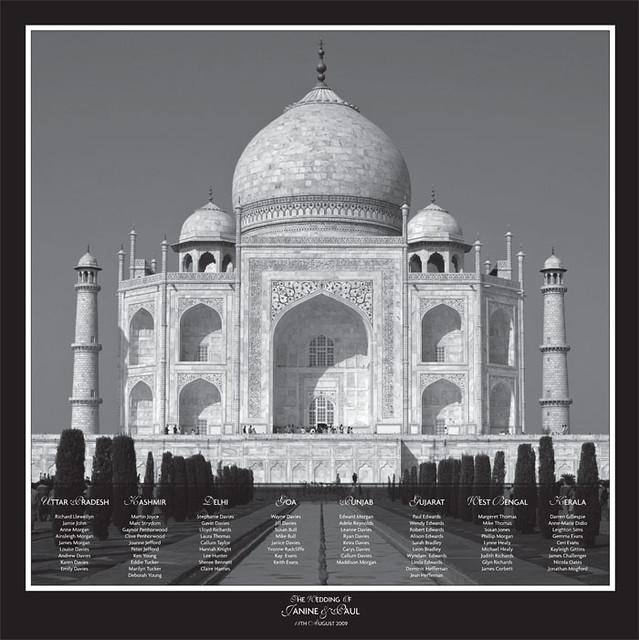 Taj Mahal Wedding Table Plan Flickr Photo Sharing