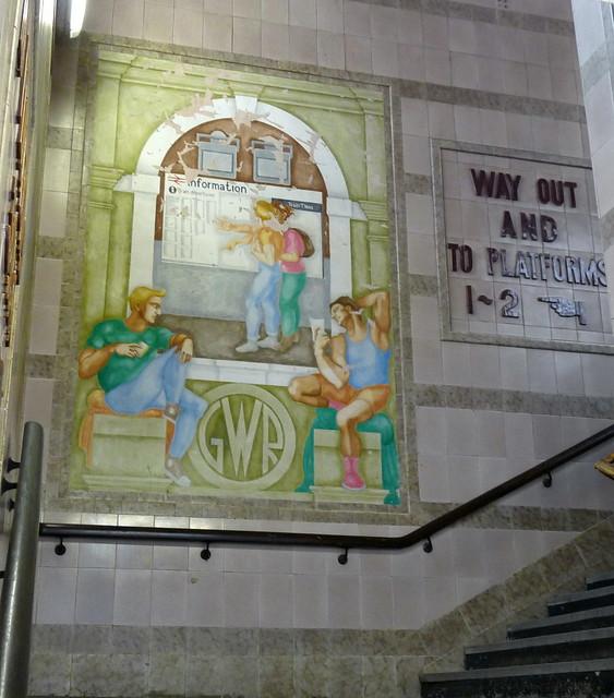 Murals by bridget green exeter st davids railway station for Mural go green