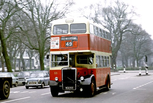 Brighton Corporation: 53 WCD53 1959 Leyland PD2/37 Weymann H61R on Old Steine