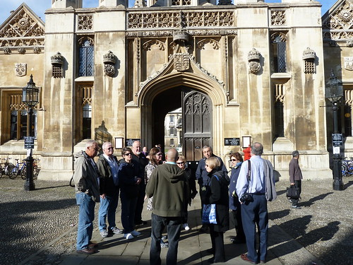 Tour Group exploring Cambridge, England