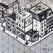 Example of Isometric Projection Sketch (Town Street)