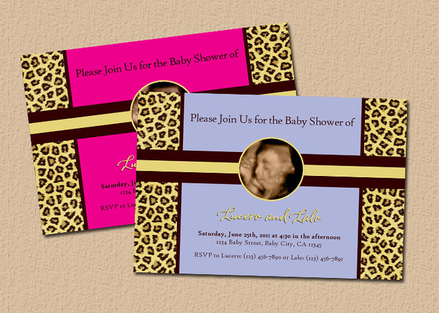Cheetah Print Baby Shower Theme http://www.flickr.com/photos/aacreations/6030463162/