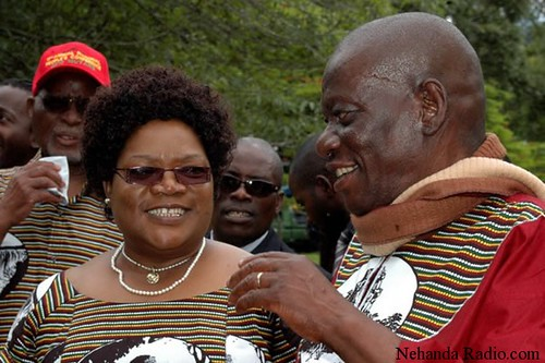 Zimbabwe Vice-President Joice Mujuru with her late husband retired General Solomon Mujuru. General Mujuru died as a result of a fire at his home. by Pan-African News Wire File Photos