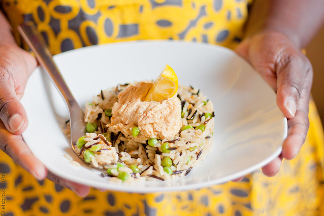 Rice, Peas & Hummus