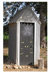 outhouse, shed,