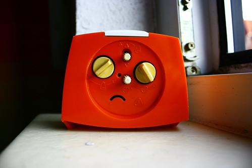 Unhappy clock