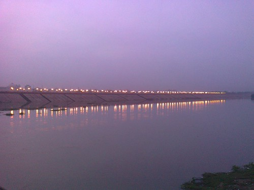 sky india reflection water reflections river dark lights streetlights riverbank predawn embankment lucknow gomti