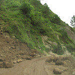Landslides on road to Tarkeshwar