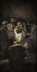 The Reading, or The Politicians, from 'The Black Paintings,' 1821-23, by Francisco de Goya