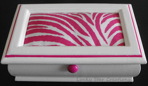 Zebra Jewelry Box Makeover