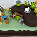 N1010 - angry birds cake toronto by www.fortheloveofcake.ca