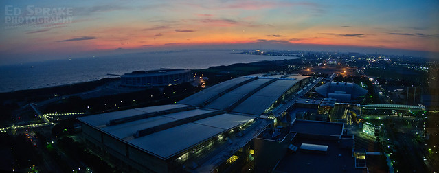 Sunset over Makuhari Messe