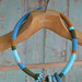 Turquoise snake necklace by pompom design
