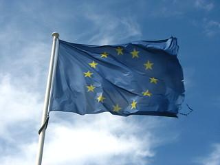 Old Frayed European Flag