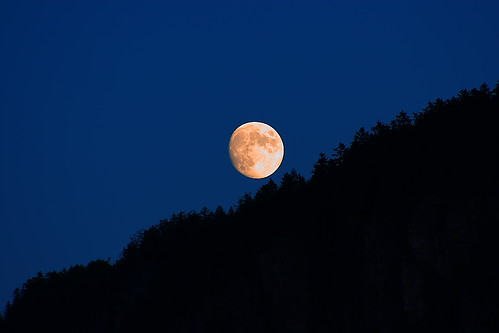 sunset summer moon night montagne tramonto estate august luna agosto notte 2011