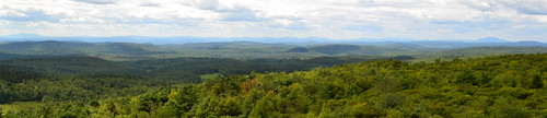 summer panorama mountain mountains green clouds view newhampshire nh hills mtn pitcher distant stoddard