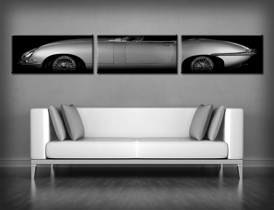 jaguar e type xke leinwand bild poster 2 50m breit ebay. Black Bedroom Furniture Sets. Home Design Ideas