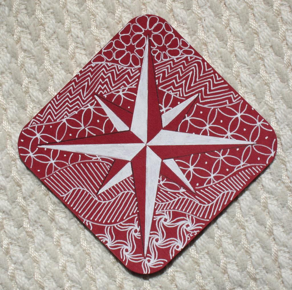 Compass Rose Zentangle Sue Flickr
