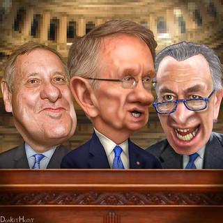 The Democratic Senate Leadership - Caricatures