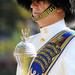In full dress uniform, U.S Navy Band Ceremonial Unit drum major by Official U.S. Navy Imagery