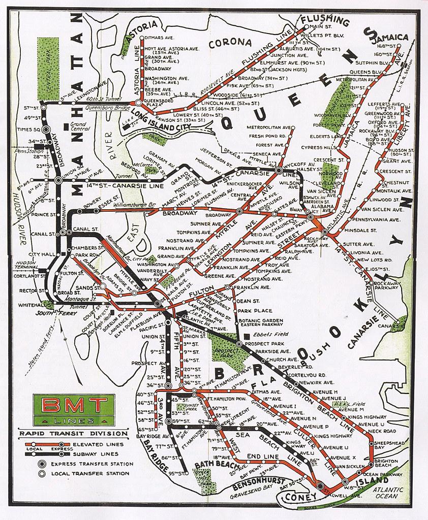 Subway Map 77 Street.Bmt Subway Map Stadslucht