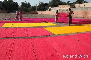 Jodhpur - Drying dyed cloth