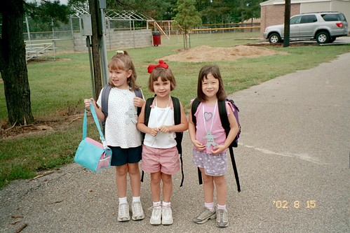 Sara, Riley and Erica - First Day of Kindergarten