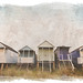 retro beach huts by andybloke