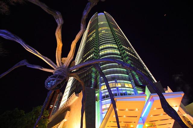 Mori Tower (ライトアップされた六本木ヒルズ森タワー)