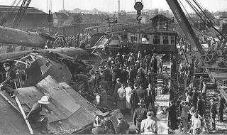 The train crash at Harrow and Wealdstone Station
