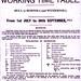 1911 - Railway Timetable