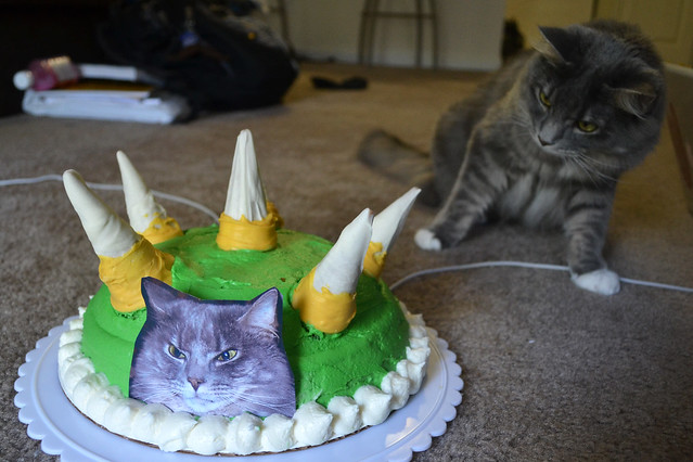 Bowser's birthday cake