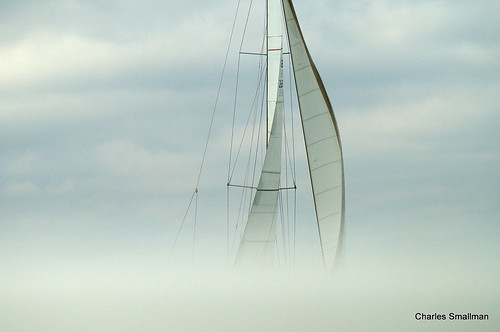Out of the mist like the Marie Celeste....