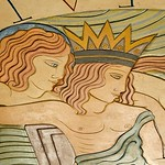 Eric Gill, Triton and Neptune ceiling medallion (detail), The Midland Hotel, Morecambe