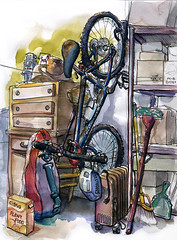 The Bicycle in the Garage by The Artist on the Road