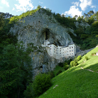 A medieval appearance of the Predjama Castle in Slovenia
