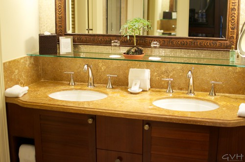 Double sinks at Ritz-Carlton Kapalua