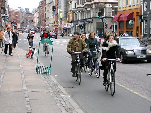Cycletrack in Copenhagen