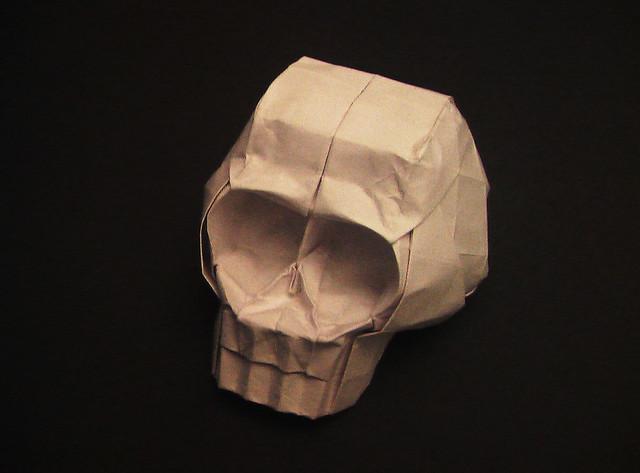 origami skull flickr photo sharing