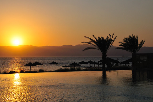 Sunset from Radisson Blu in Tala Bay, Aqaba