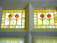 Tiffany panels, Katrina's bedroom, Yaddo