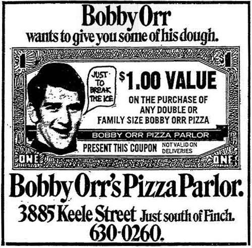 Vintage Ad #1,668: Bobby Orr wants to give you some of his dough