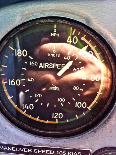 Anemometer during slow Flight: 50knots (Cessna 152)