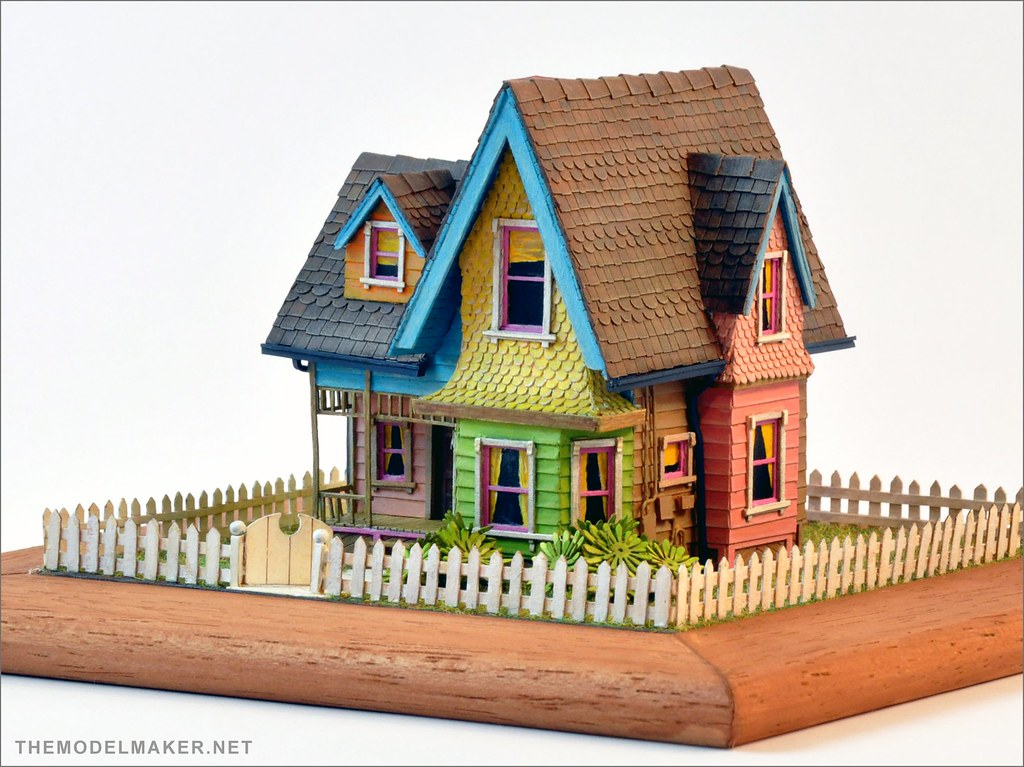 Carl 39 s house scale model from pixar up themodelmaker for Houses models